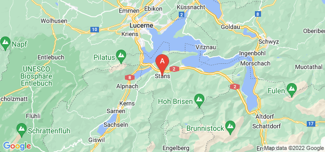 map of Stans, Switzerland