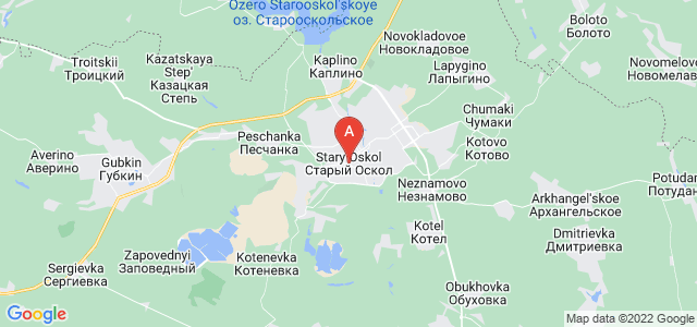map of Stary Oskol, Russia