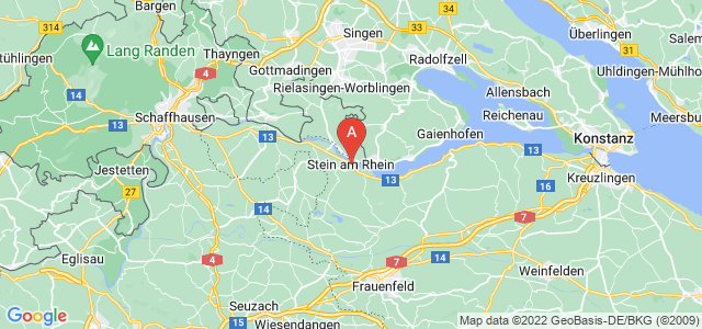 map of Stein am Rhein, Switzerland