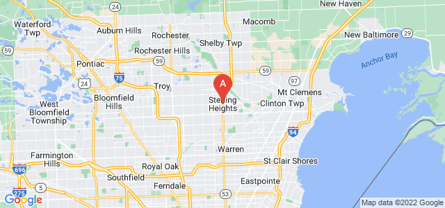 map of Sterling Heights, United States of America