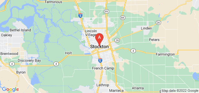 map of Stockton, United States of America