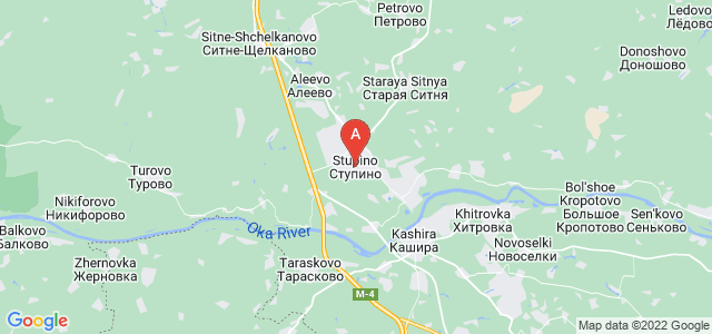 map of Stupino, Russia