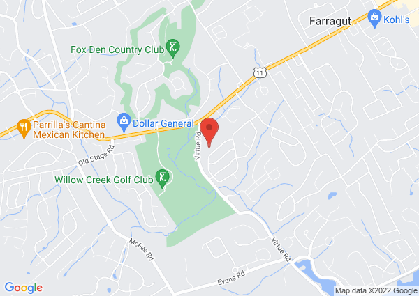 Map of Sugarwood Pool, Butternut Circle, Knoxville, TN, USA