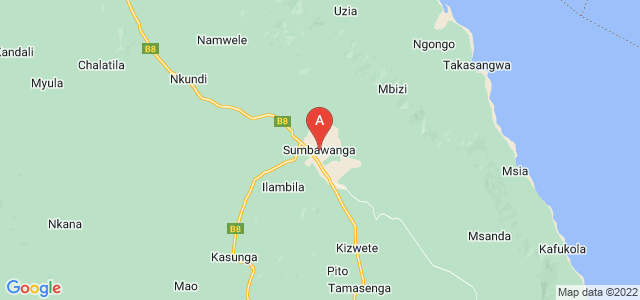 map of Sumbawanga, Tanzania