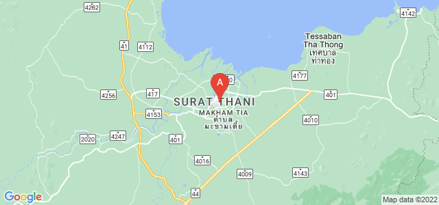 map of Surat Thani, Thailand