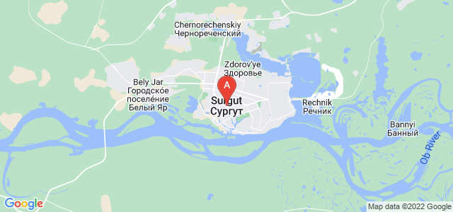 map of Surgut, Russia