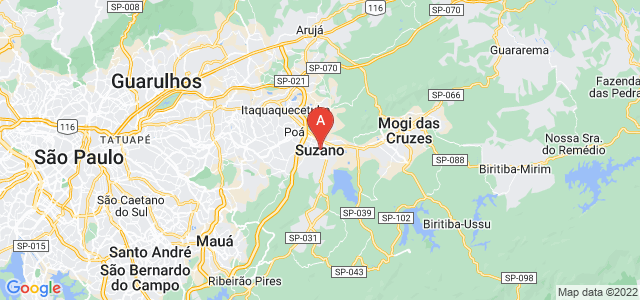 map of Suzano, Brazil