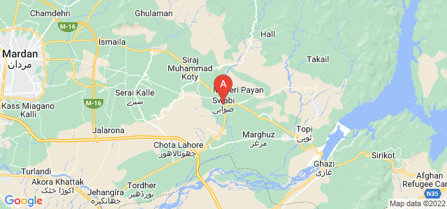 map of Swabi, Pakistan