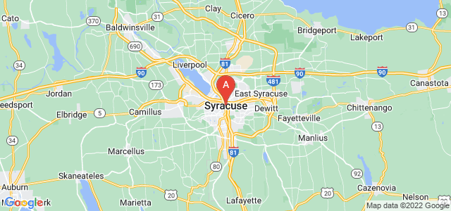 map of Syracuse, United States of America