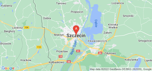map of Szczecin, Poland