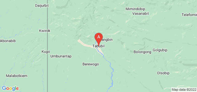 map of Tabubil, Papua New Guinea