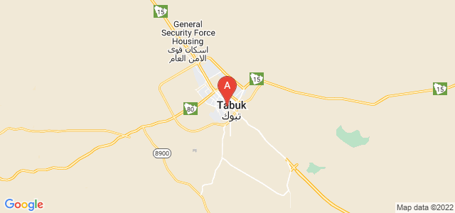 map of Tabuk, Saudi Arabia