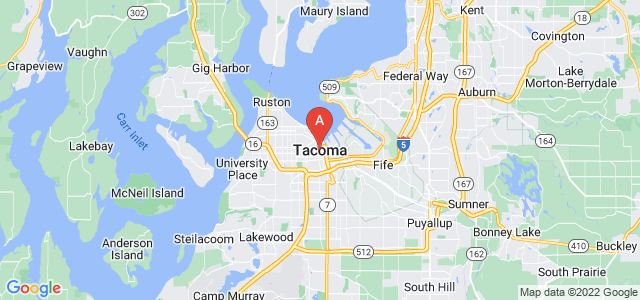 map of Tacoma, United States of America