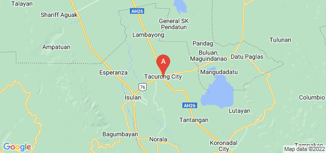 map of Tacurong, Philippines