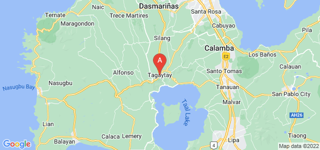 map of Tagaytay, Philippines