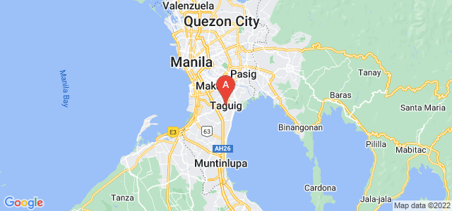 map of Taguig, Philippines