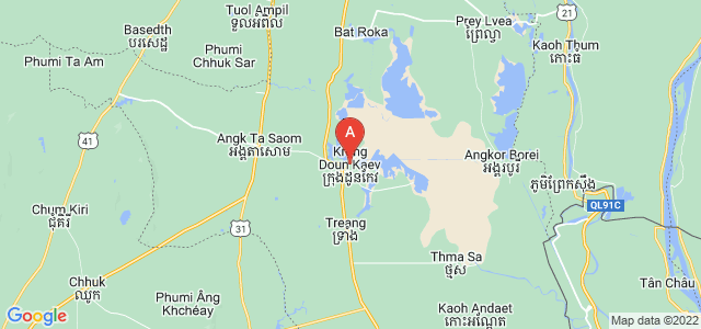 map of Takéo, Cambodia