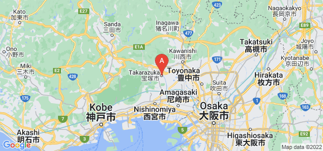 map of Takarazuka, Japan