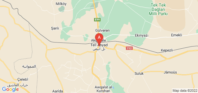 map of Tal Abyad, Syria