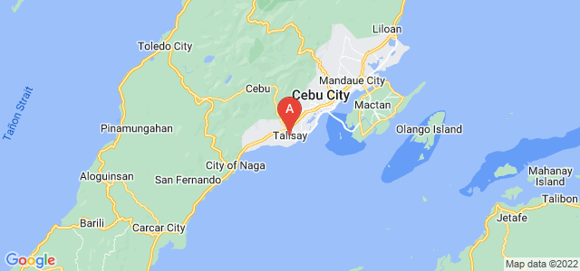 map of Talisay, Philippines