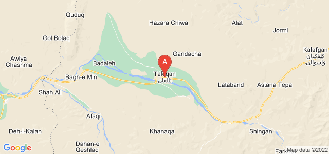 map of Taloqan, Afghanistan