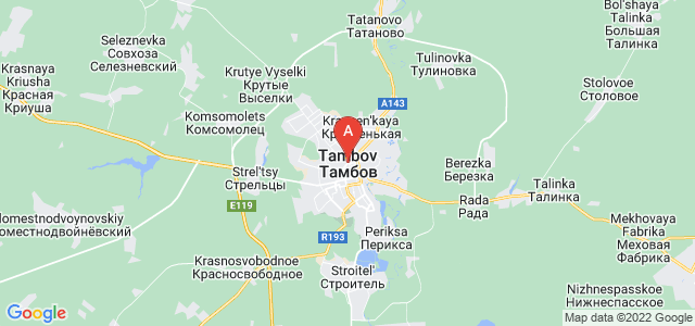 map of Tambov, Russia