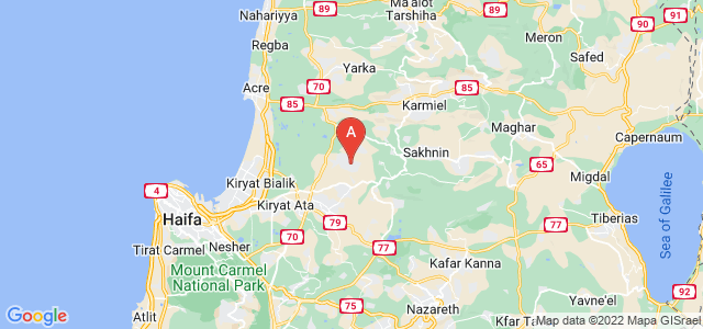 map of Tamra, Israel