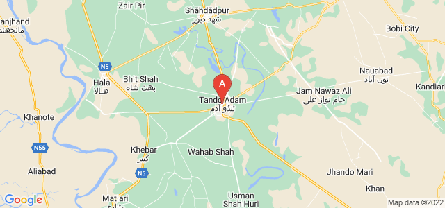 map of Tando Adam Khan, Pakistan