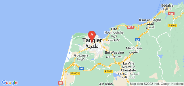 map of Tangier, Morocco