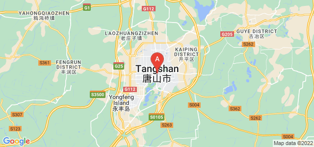 map of Tangshan, China