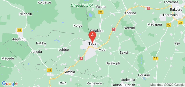 map of Tapa, Estonia