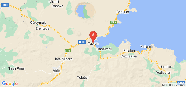 map of Tatvan, Turkey