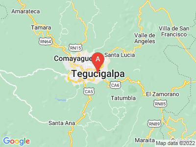 map of Tegucigalpa, Honduras