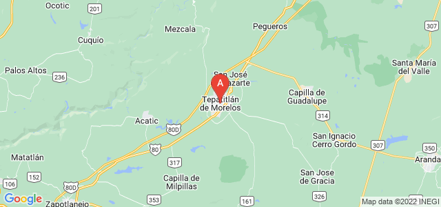 map of Tepatitlán, Mexico