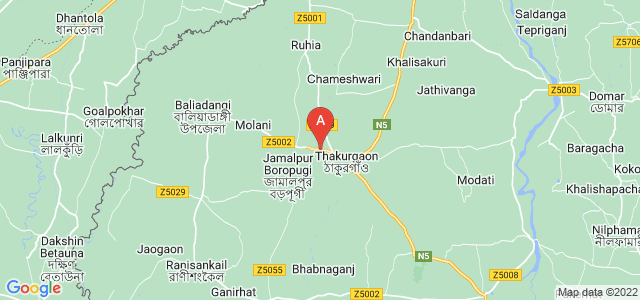 map of Thakurgaon, Bangladesh