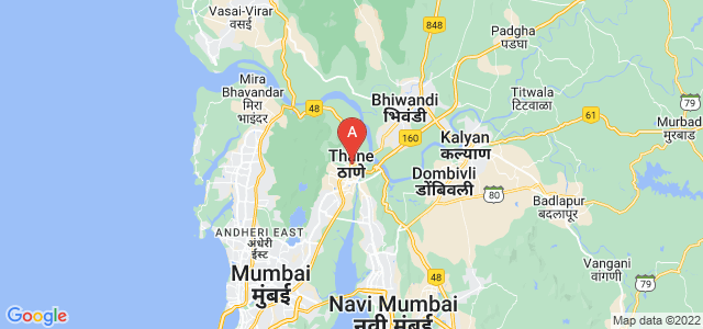 map of Thane, India