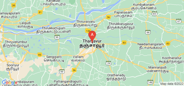 map of Thanjavur, India