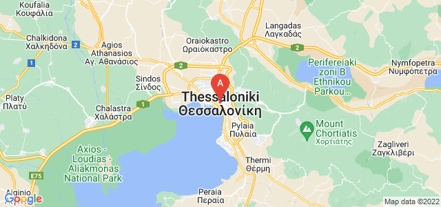 map of Thessaloniki, Greece