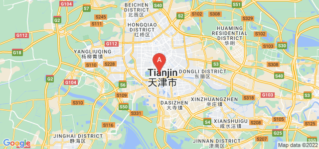 map of Tianjin, China