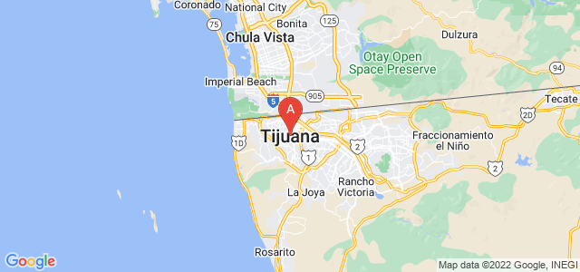 map of Tijuana, Mexico