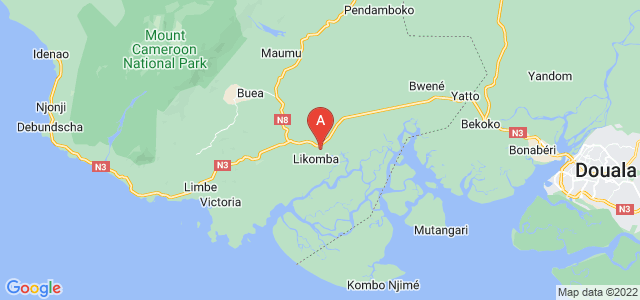map of Tiko, Cameroon