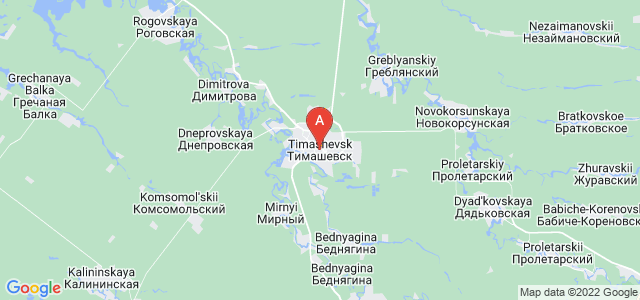 map of Timashyovsk, Russia