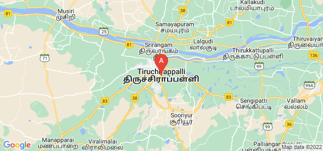 map of Tiruchirappalli, India