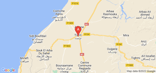 map of Tiznit, Morocco