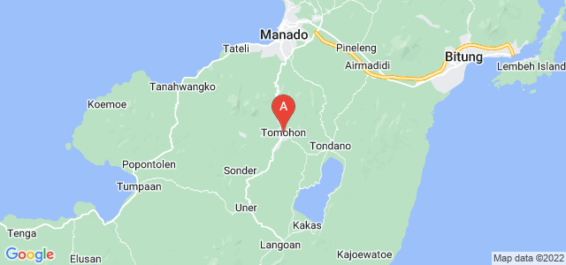 map of Tomohon, Indonesia