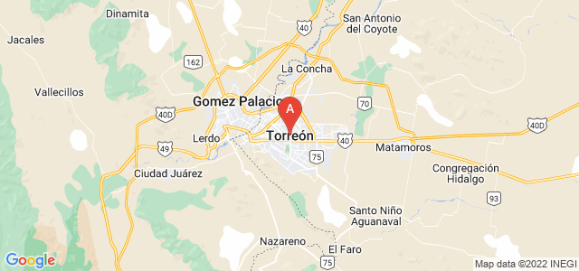 map of Torreón, Mexico