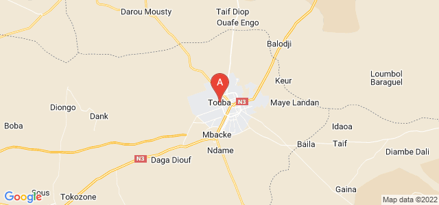 map of Touba, Senegal