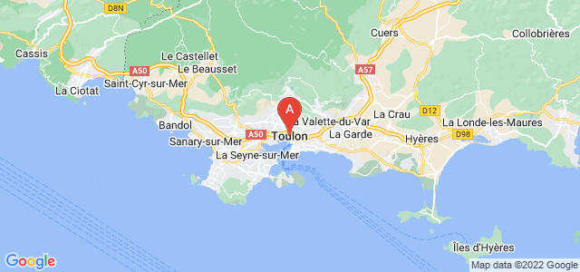 map of Toulon, France