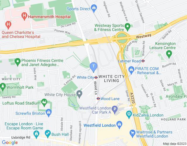 Location map for Troubadour White City Theatre