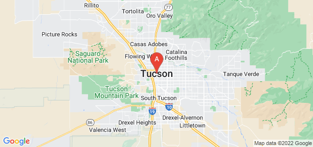 map of Tucson, United States of America